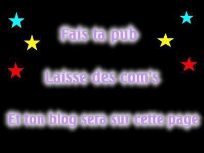 Pub pour votre blog