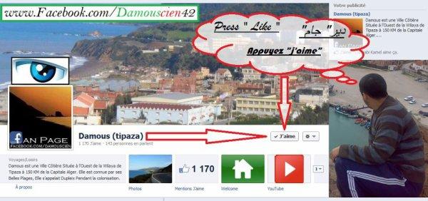 Page Facebook de la ville de Damous