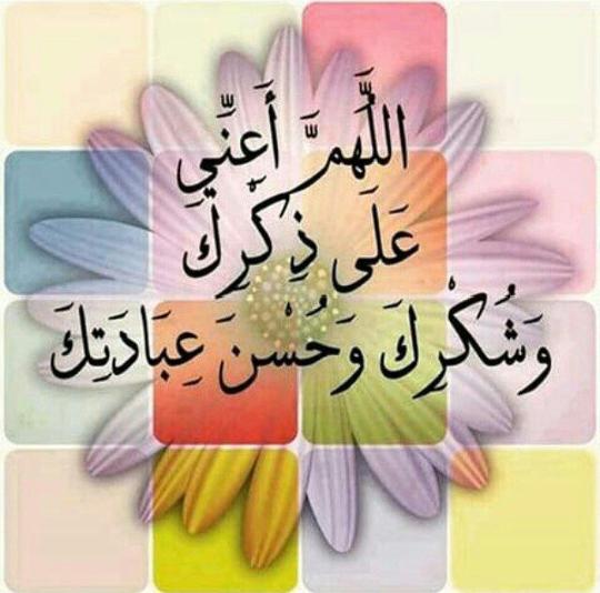<3 Allahoma A3ini 3ala Dikrika wa Chokrika Wa 7Osni 3ibadatek <3