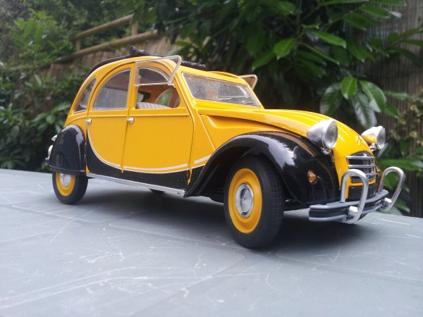 2cv Charleston noir/jaune