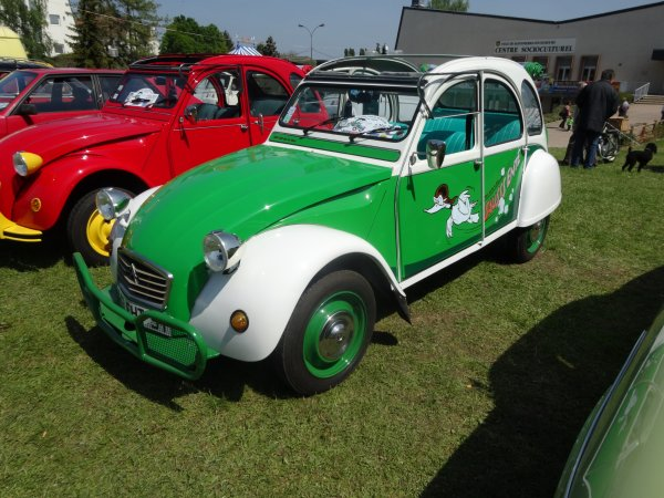 2cv verte et blanche