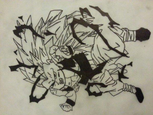 Mon dessin a main lever ....