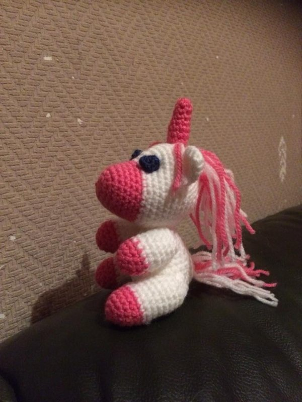licorne au crochet