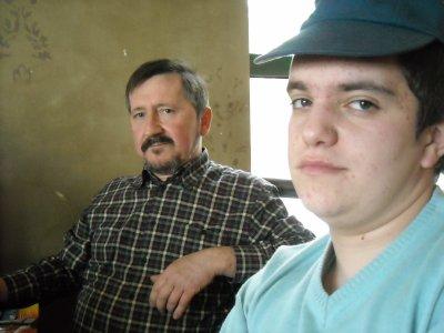 David mon beau fils et moi...........