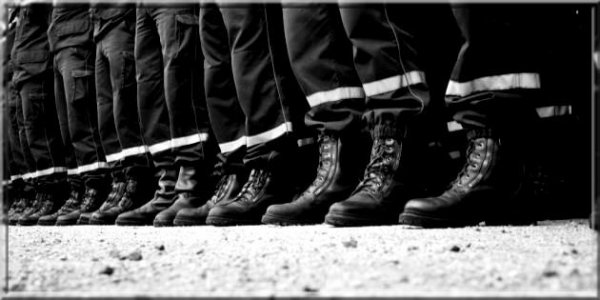 Photo de Pompier en rang