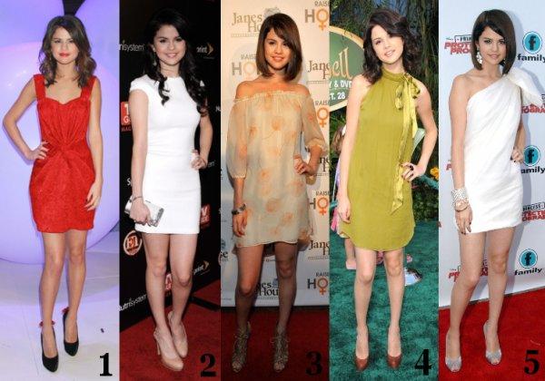 Quelle est votre robe favorite que Selena Gomez à portée ?