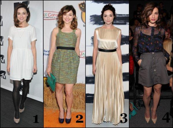 Quelle tenue de Crystal Reed est votre préféré? + Photo coup de coeur