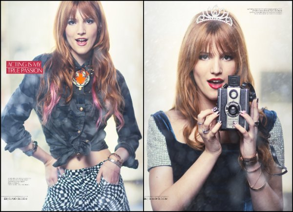 Photoshoot de Bella Thorne pour Glamoholic Magazine de Janvier 2013. Elle est vraiment sublime ! Gros Gros TOP! + Little Mix- wings, ces filles ont beaucoup de talent.