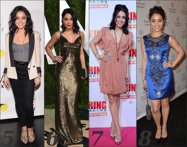 Parmis les tenues portée par Vanessa Hudgens sur le tapis rouge, la quelle préfèrez-vous?