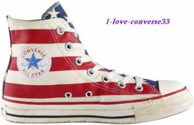 converses drapeau américain