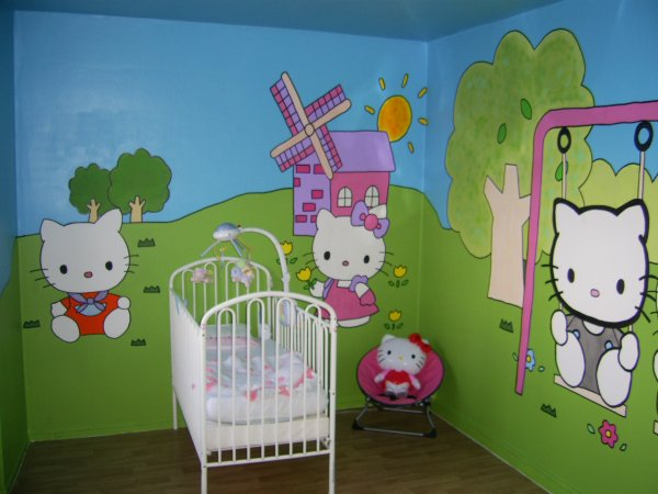 chambre hello kitty blog de decoration chambre. Black Bedroom Furniture Sets. Home Design Ideas