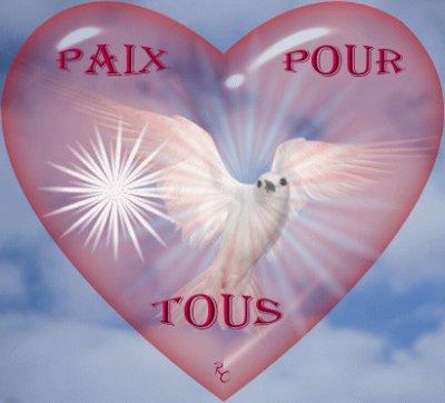 amour et paix pour tout le monde