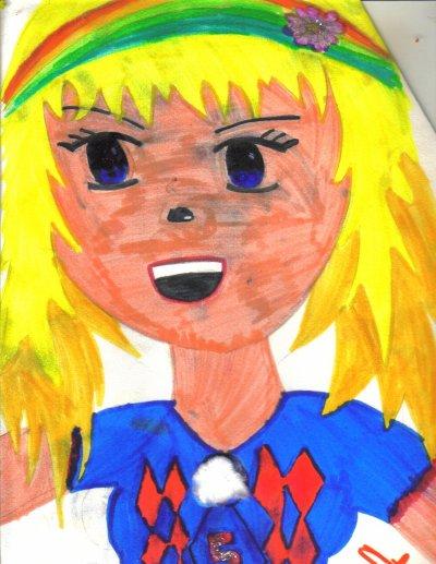 Un dessin de ma fille et j'y colle une chanson...................................