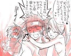 Kiba 'creve de peur xD',Naruto 'sexy meta',Sasuke 'Chidorisation de l'ennemie :3'