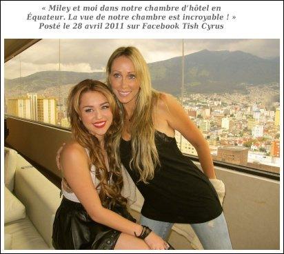 Jeudi 28 Avril  → Le Lendemain de Son Arrivée, Mil' a Donnée Une Conférence de Presse Dans SOn Hôtel à Quito ( Equateur )
