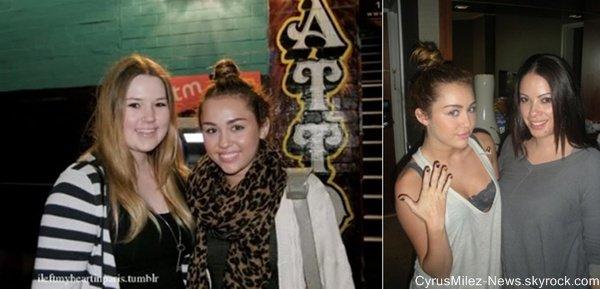 Vendredi 1 Juillet : Miley & Denika, sa maquilleuse allant déjeuner chez Subiaco sur Rokeby Road à Perth en Australie.