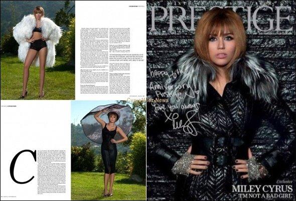 Rubrique : Scans            Decouvre une dizaine de scans du Magazine Prestige qui va sortir dans quelques Jours aux States posté par Miley en personne sur son Twitter.
