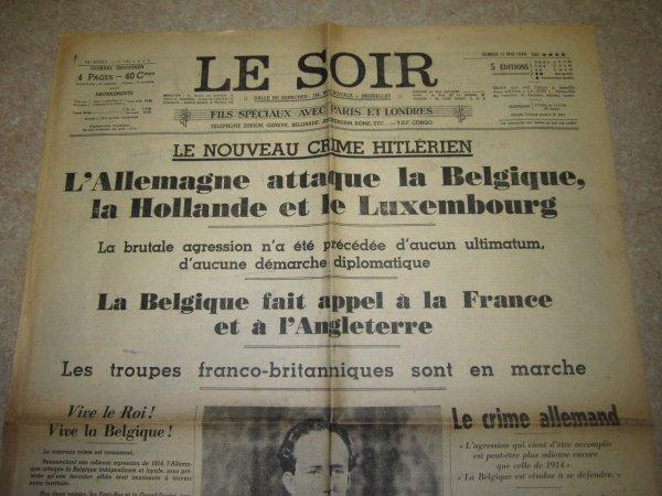 Mai 1940 : L'Allemagne attaque