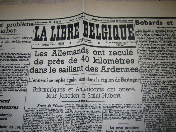 Janvier 1945: les Allemands se replient