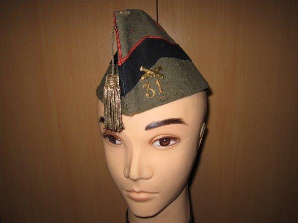 Bonnet de police officier artillerie Belge ww2