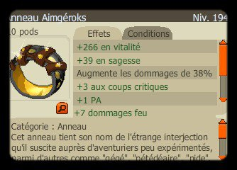 New item, record temps (encore) et perco !