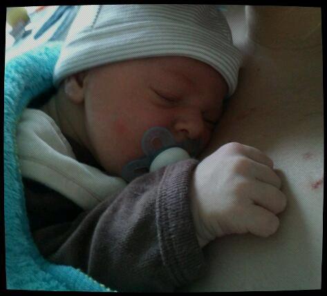 Première photo de maternité :)