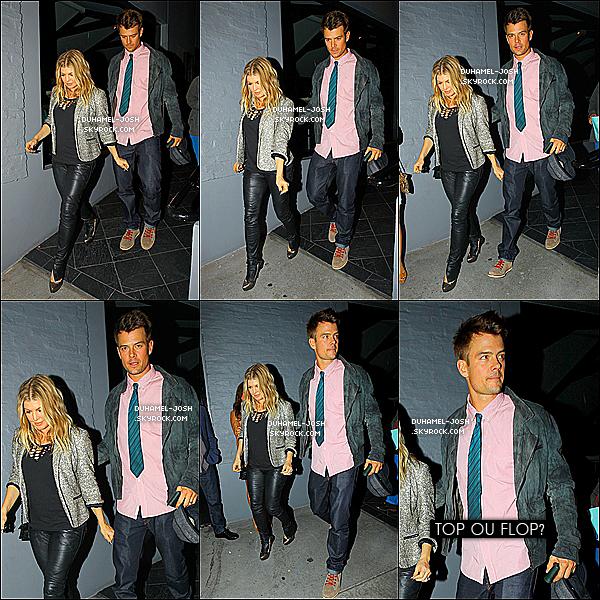 *15 / 12 / 12 - Josh et sa femme Fergie ont étaient apperçus sortant d'une soirée   *