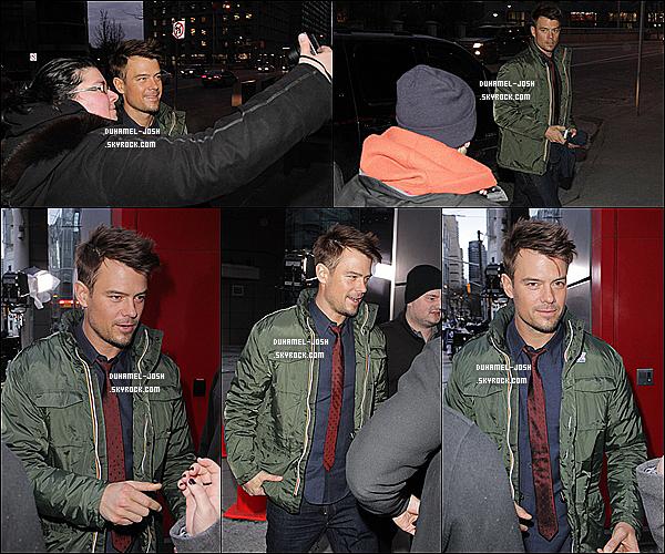 *21 / 01 / 13 - Josh et sa co-star Julianne Hough ont étaient aperçu avec leur fans à l'entrer d'une station de radio locale à Toronto ( Canada ). TOP/FLOP?*