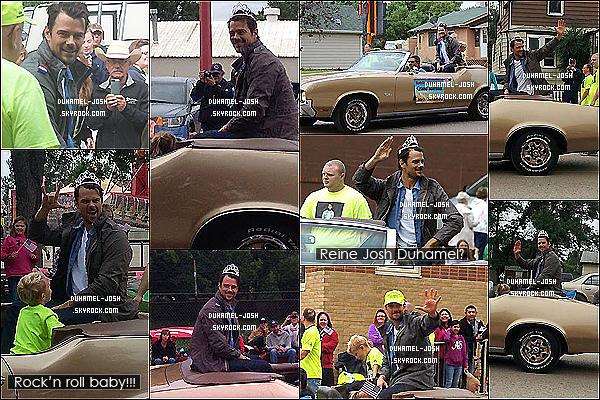 *??/07/13: Notre cher Josh Duhamel était présent à la parade State Faire dans le Nord du Dakota.Pendant la parade Josh à eu la gentillesse de posé avec quelques fans + Interview de Josh où il parle de sa femme Fergie et de son bébé. *