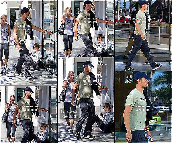 *03/09/13: Quelques jours après la naissance de son fils, Josh Duhamel s'est rendus à la gym avec sa soeur. Dans la même journée Josh Duhamel et sa soeur ont été vu allant faire les courses + Quelques jours plus tôt, Josh a été vu dans Los Angeles. *
