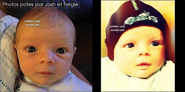 *04/10/13: Notre petite famille ont étaient apperçut dans un parking sou-terrain rentrant dans leur voiture. Josh et Fergie ainsi que leur fils Axl ( cacher par une couverture ) dans un parking de Beverly Hills. + nos deux parents ont posté des photos d'Axl.  *