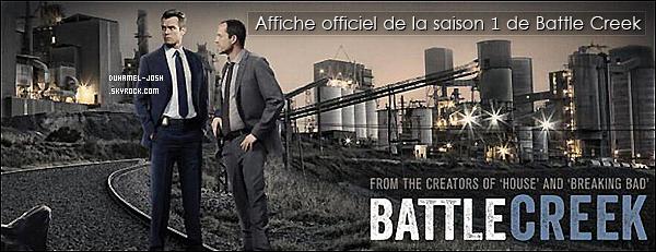 """*Découvrez les premiers stills de la nouvelle série de Josh Duhamel, """" Battle Creek """".  Les 3 premier stills de """" Battle Creek """" on fait leurs apparition, il y a quelques mois. Tellement impatiente de découvrir la nouvelle série de Josh. *"""
