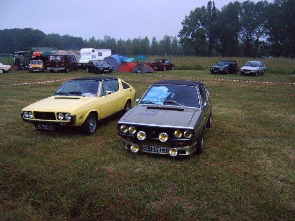 deux belles photos de la renault 17 vue des voitures de collections les bielles meusiennes au lac de la madine 2 est 3 en meuse