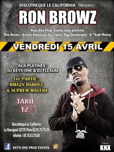"""SUPRÊM MASTAH en première partie de """" RON BROWZ """" Le Vendredi 15 Avril 2011 au CALIFORNIA(St-Brieuc)"""
