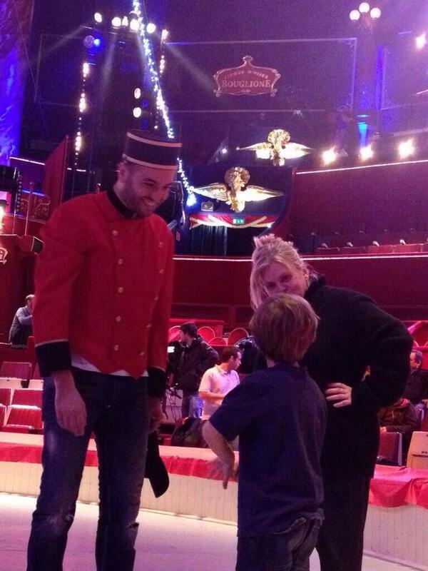 Répétition avec Isabelle Nanty au Cirque d'Hiver
