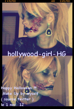 Photo inédite: Make Up de Caroline by Myself ( pour Halloween)