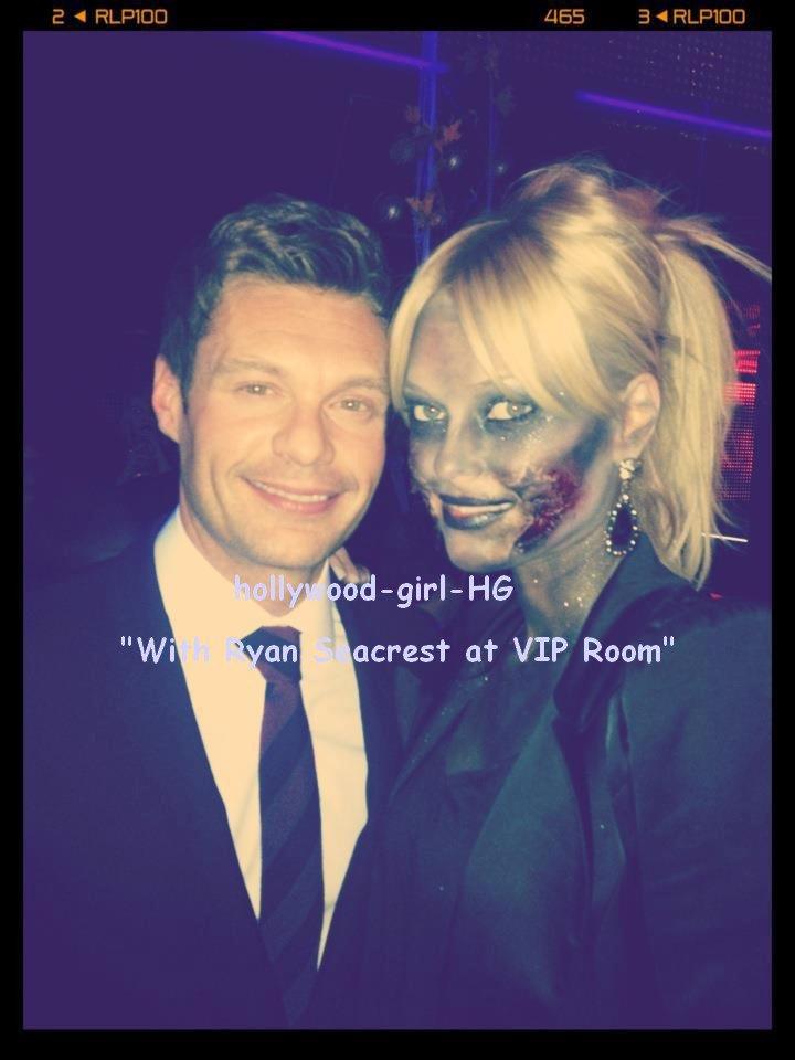 Photo inédite :Caroline Receveur et Ryan Seacrest ( Halloween)