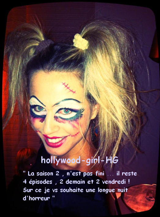 Photo inédite halloween : Sylvia ( Chloé )