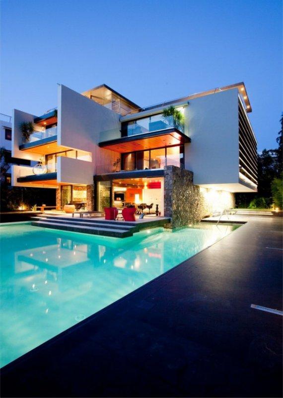 Univers du luxe maison villa contemporaine par 314 for Architecte maison de luxe