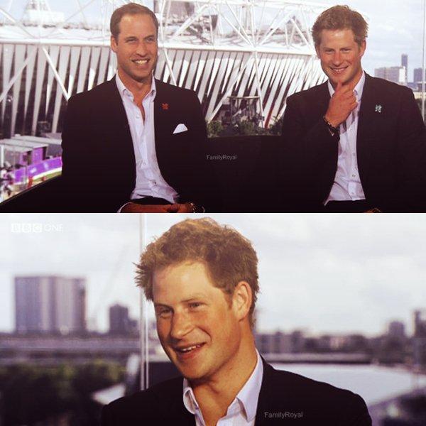 """Le 03 août 2012, William et Harry étaient en interview pour la télévision australienne sur Channel 9. Apparemment pendant cette interview ils ont confirmé qu'ils allaient en Australie en 2013 pour les """"the Lions Rugby Tour"""", je n'en sais pas plus pour le moment. Ensuite ils étaient en interview pour une émission canadienne, CTV. Un peu plus tard ils enchainent une interview donnait par Sue Barker pour la BBC. Pendant ce temps là Kate était présente avec la princesse Anne à la compétition de hockey puis ensuite seule à la compétition athlétisme au Stade olympique. Elle a retrouvée William plus tard pour ce rendre à la compétition natation, ils ont été ensemble à la maison où résident les joueurs britannique. Très longue journée pour le trio donc encore un très grand article ! Les liens des interviews seront dés que possible disponible sur le blog."""