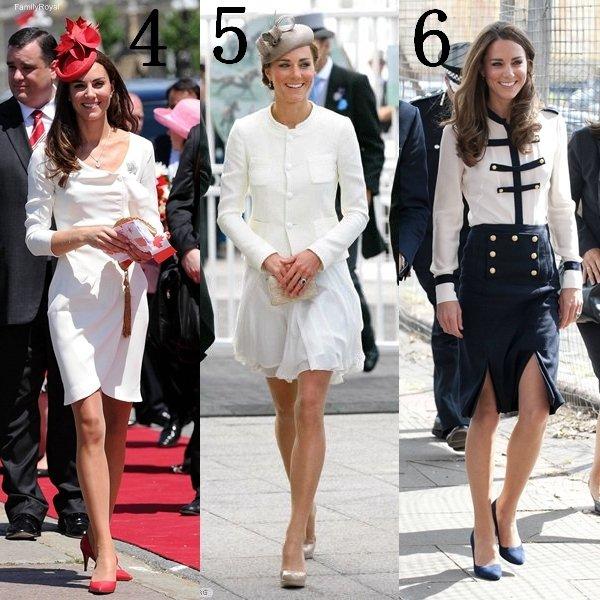 Kate est beaucoup sortie en 2011, j'ai fait une sélection de mes tenues préférées mais quelle est votre tenue préférée?