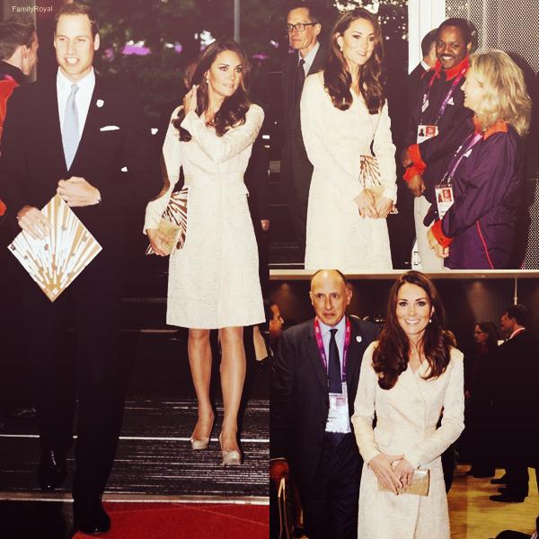 Le 30 août 2012, William et Kate étaient présents à la compétition de cyclisme. Le 29 août 2012, William et Kate étaient présents à l'ouverture des jeux Paralympique à Londres. Le 28 août 2012, Kate a été vu dans les rues de Londres.