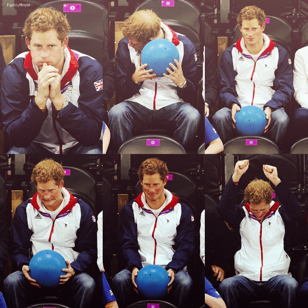 04 septembre 2012, Harry était présent à la compétition de natation et de celle de goalball des Jeux paralympiques de Londres 2012 à Londres, en Angleterre.