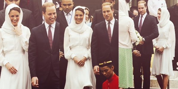 14 septembre 2012,  William et Kate ont assisté à un évènement culture à Kuala Lumpur et ils ont visité une mosquée et aussi assister à une cérémonie du thé traditionnel, en Malaisie.
