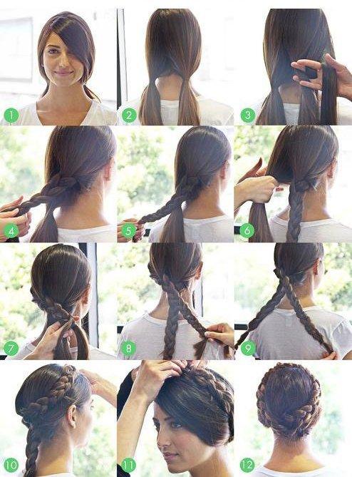 ♥ Cheveux tressés en torsade pour look romantique ♥