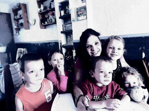 moi avec mes 5 enfants