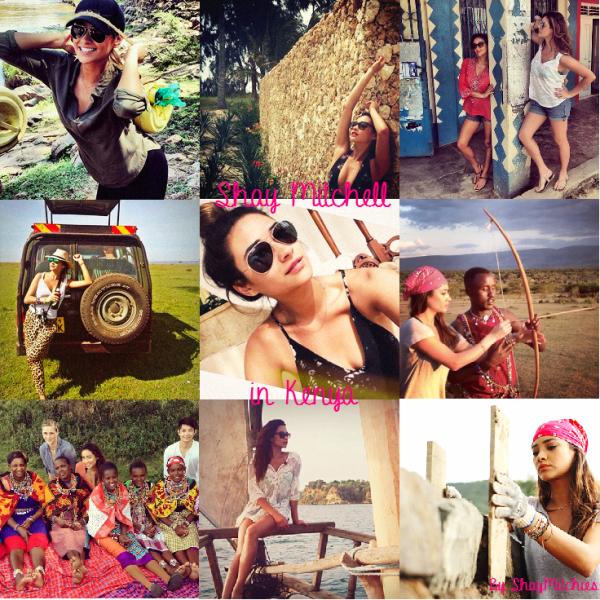 Shay Mitchell in Kenya ♥