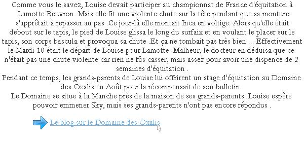 La Chute de Louise et son stage  .