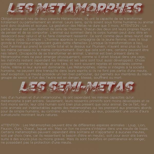 Descriptifs des Espèces et des Rangs.