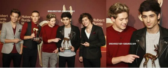 . Nouvelle photo des boys lors des Bambi Awards. .